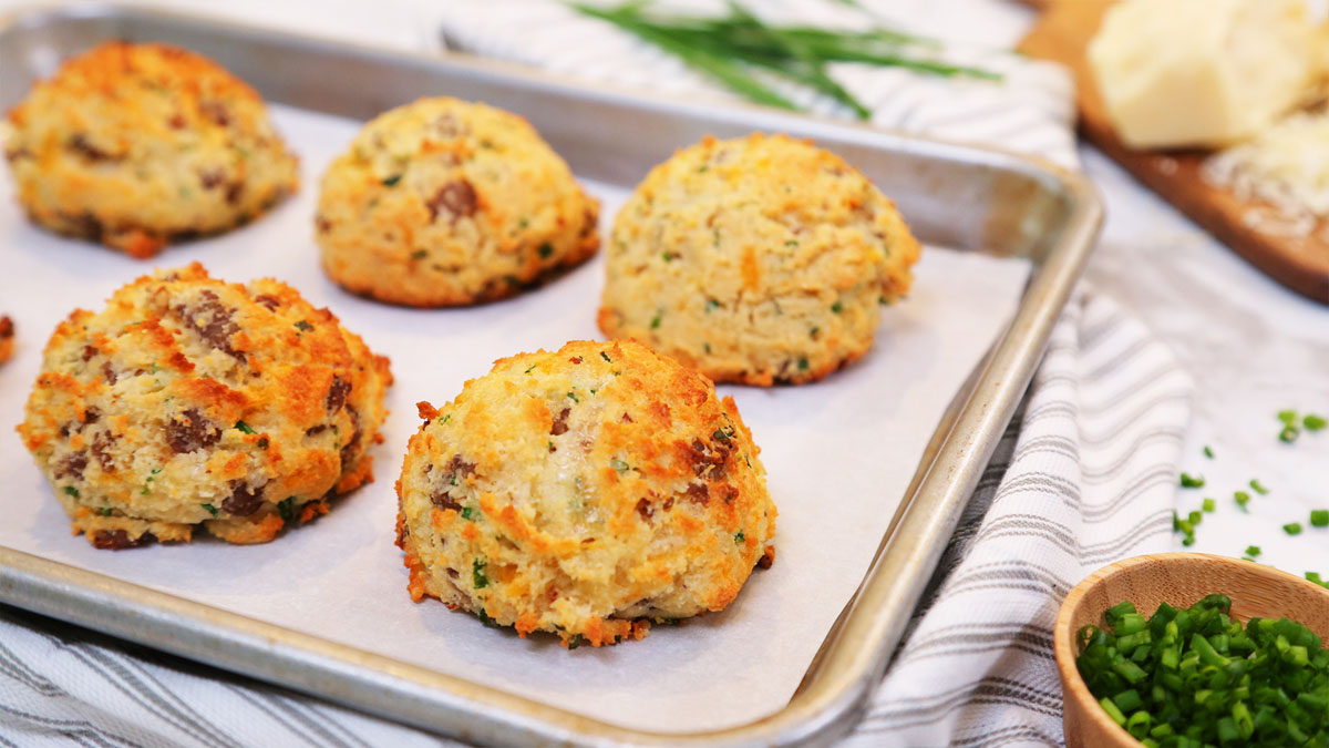 Low-Carb-Sausage-Cheddar-Chive-Biscuits_16x9_1200_The-Domestic-Geek