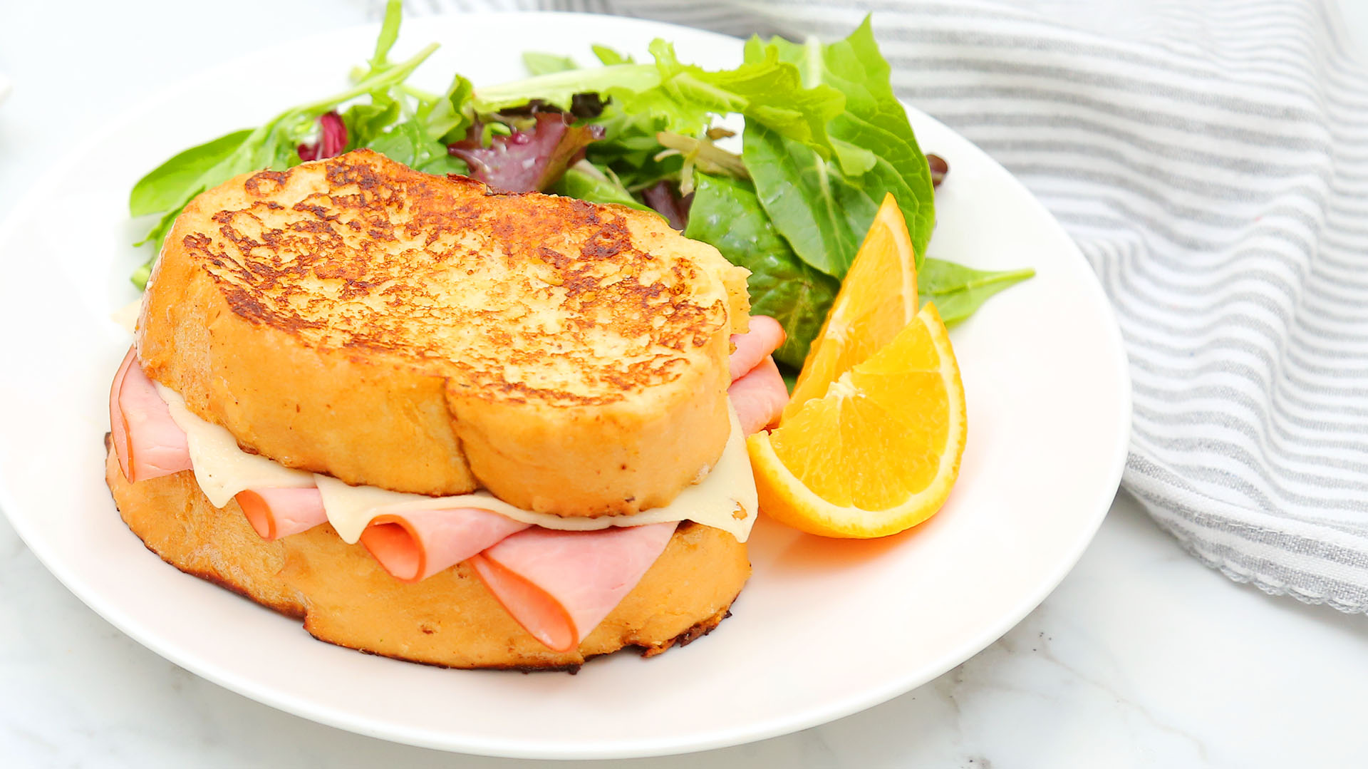 Savory-Ham-Swiss-French-Toast_16x9_The-Domestic-Geek